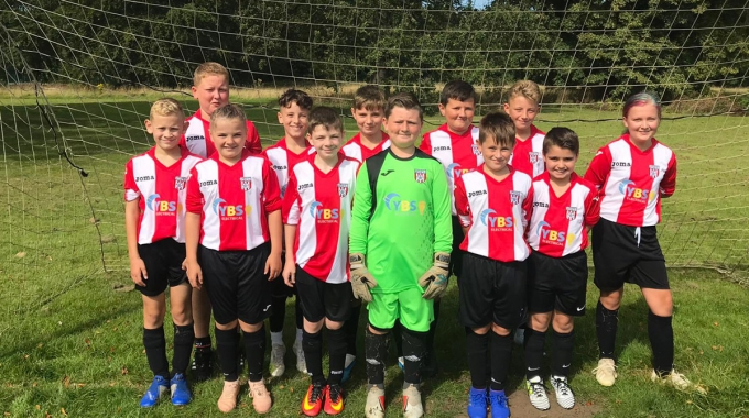 YBS sponsor Carcroft Youth Football Team