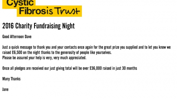 Raising money for Cystic Fibrosis