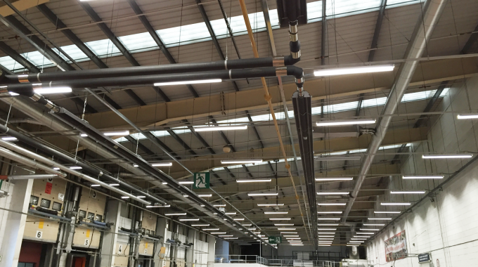 Gas fired radiant tube heating keeping things moving in Scotland