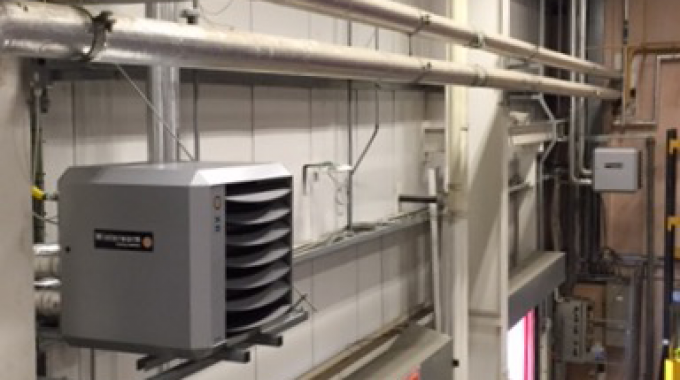 Gas fired heaters installed in Manchester supermarket
