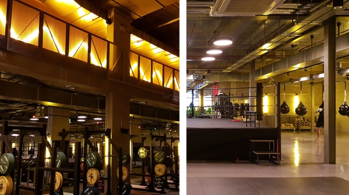 Full M&E fit out of a new gym located in Elephant and Castle