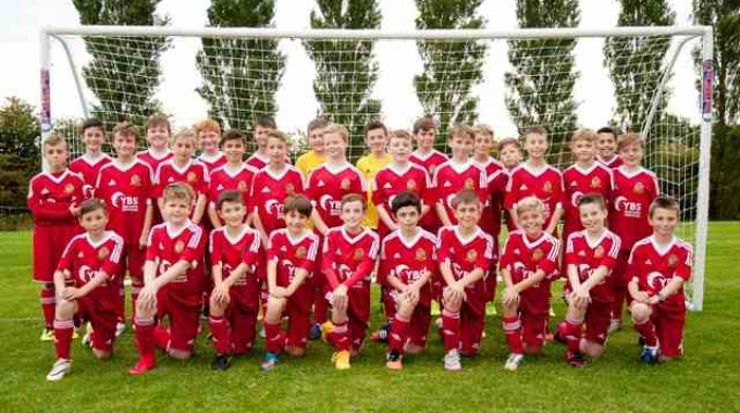 YBS sponsors of Ossett Town under 11s