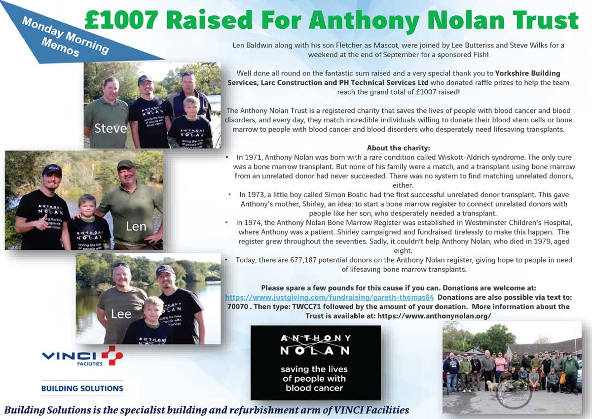 YBS support The Anthony Nolan Trust