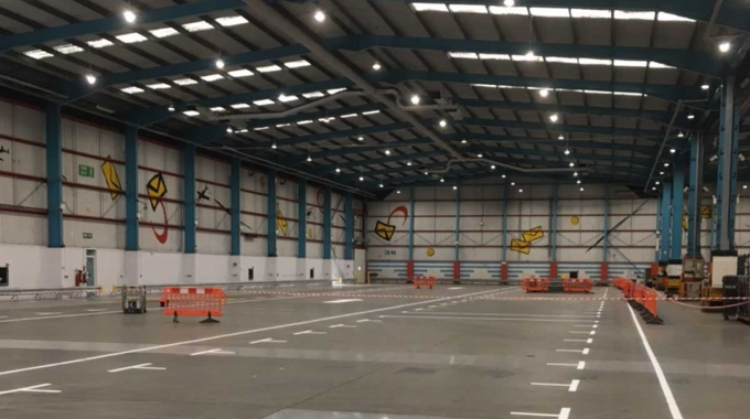 LED lighting and ventilation to North London Mail Centre