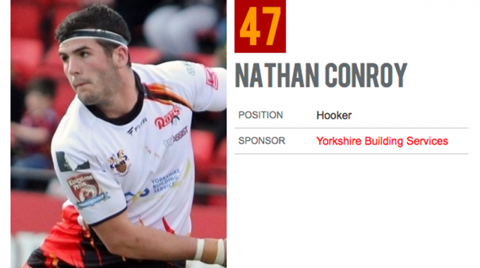 YBS proud to sponsor Nathan Conroy of the Dewsbury Rams