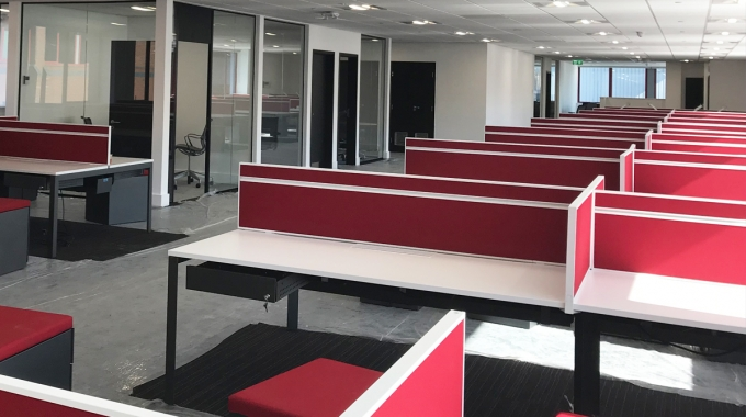 Phase 3 of office refit in Leeds comes close to completion