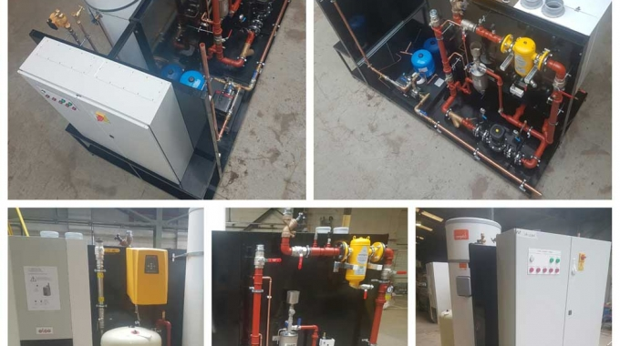 New skid boiler and pump set on its way…