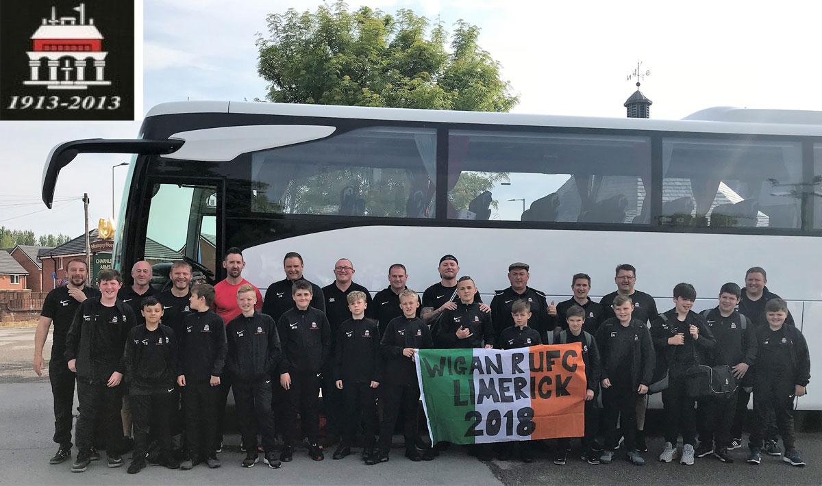 Wigan RUFC U12s tour to Limerick